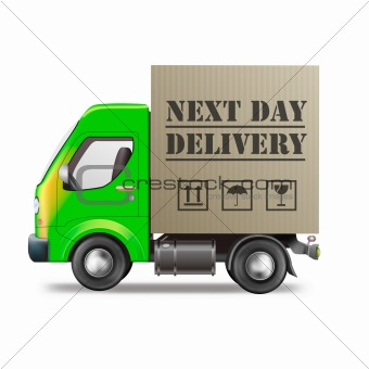next day delivery truck