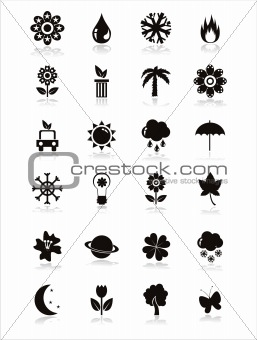 black nature icons