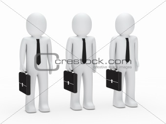 business men with tie and briefcase