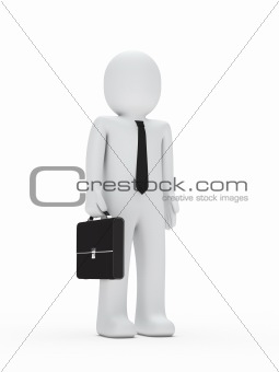 business man with tie and briefcase