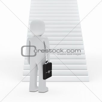 businessman for stairs
