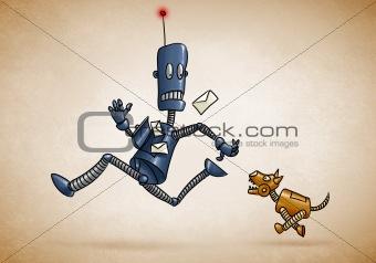 Postman Robot and mechanical dog