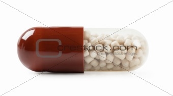Macro view of pill