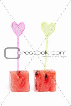 Watermelon cubes