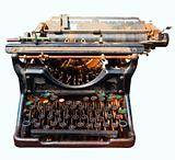 old isolated typewriter