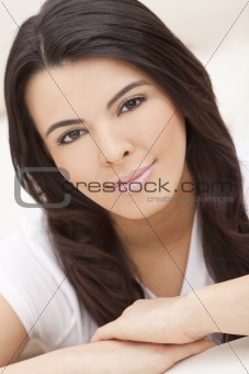 Beautiful Face of Hispanic Woman or Girl