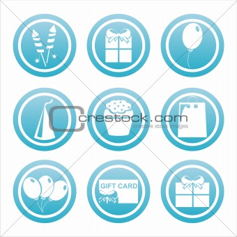blue birthday signs