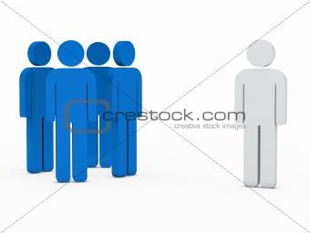 business team leader blue