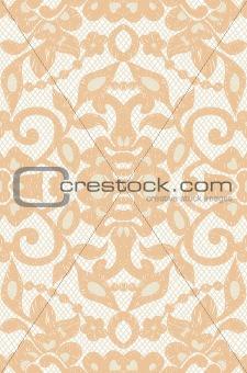 Beautiful floral beige lace