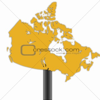 Canada map road sign