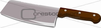 Kitchen chef's knife isolated on a white background