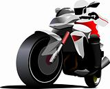 Biker. Vector illustration