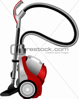 Home vacuum cleaner. Vector illustration