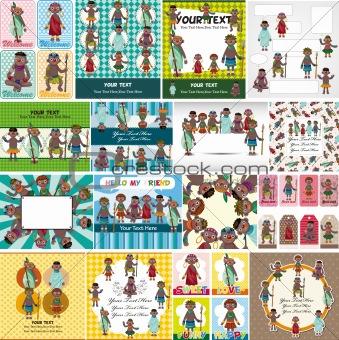 cartoon Africa Indigenous card