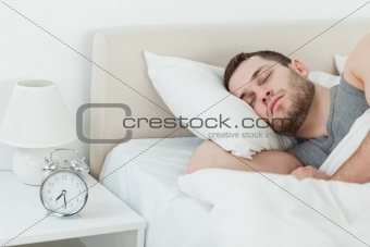 Attractive man sleeping