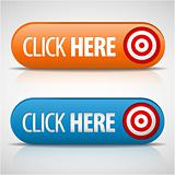Big blue and orange click here buttons