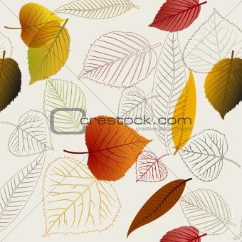Autumn vector leafs texture