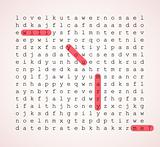 Wedding card - word search puzzle
