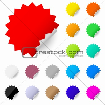 Abstract colorful labels
