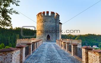 Evening Sternberk Castle in Czech Republic
