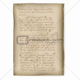 An old manuscript