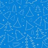 Seamless background with Christmas trees