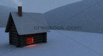 Snowbound hut