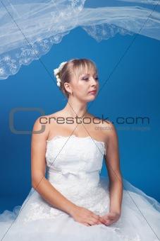 Bride on blue