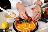 Preparing of a Fresh Fruit Tart