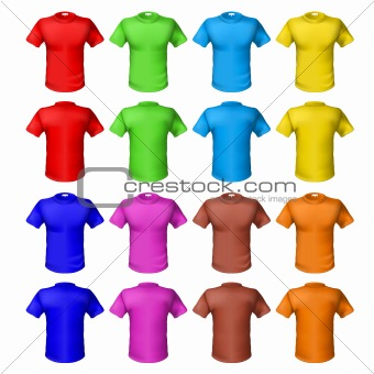 Bright colored shirts