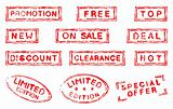 Set of grungy ink stamps