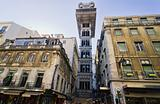 anta Justa Elevator in Lisbon, Portugal.