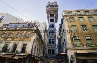 anta Justa Elevator in Lisbon, Portugal.