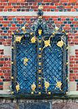 Window detail at the entrance to Frederiksborg Castle, Hillerod,