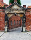 Entrance to Frederiksborg castle in Hillerod, Denmark