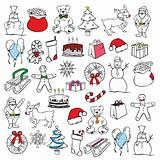 illustration of christmass items