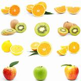 Collection of fresh juicy fruit