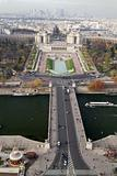 Trocadero Gardens From Eiffel Tower, Paris