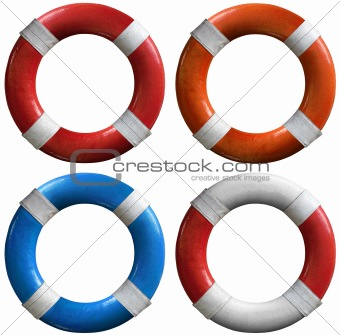 Set of life buoys