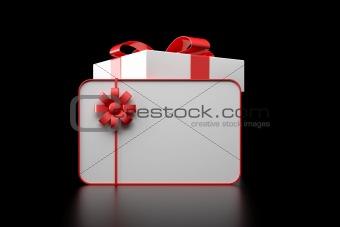 3d white gift box