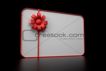 3d illustration of gift card