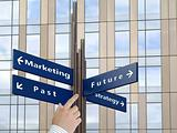 Business directions signs