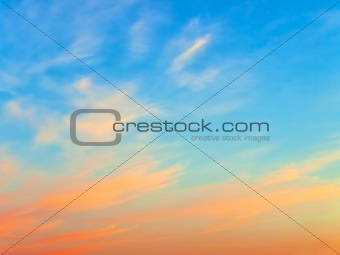 sky at sunset