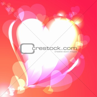 Hearts, speech bubble, vector background
