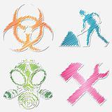 Scribbled symbols
