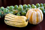 Brussels Sprouts with Sweet Dumpling and Delicata Squash