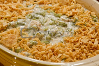 French Cut String Beans with Fried Onions Casserole Dish