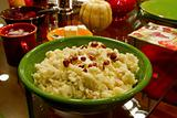 Thanksgiving Day Dinner Mashed Potatoes with Hazelnuts and Butte
