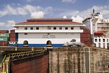 Panama Canal With Ship