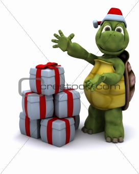Tortoise santa character